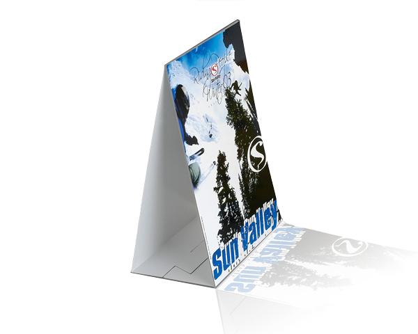 PLV carton chevalet Sun Valley